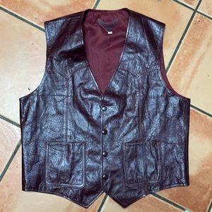 😎Host Pick♥️Vintage Cowboy sz 42 Leather Vest